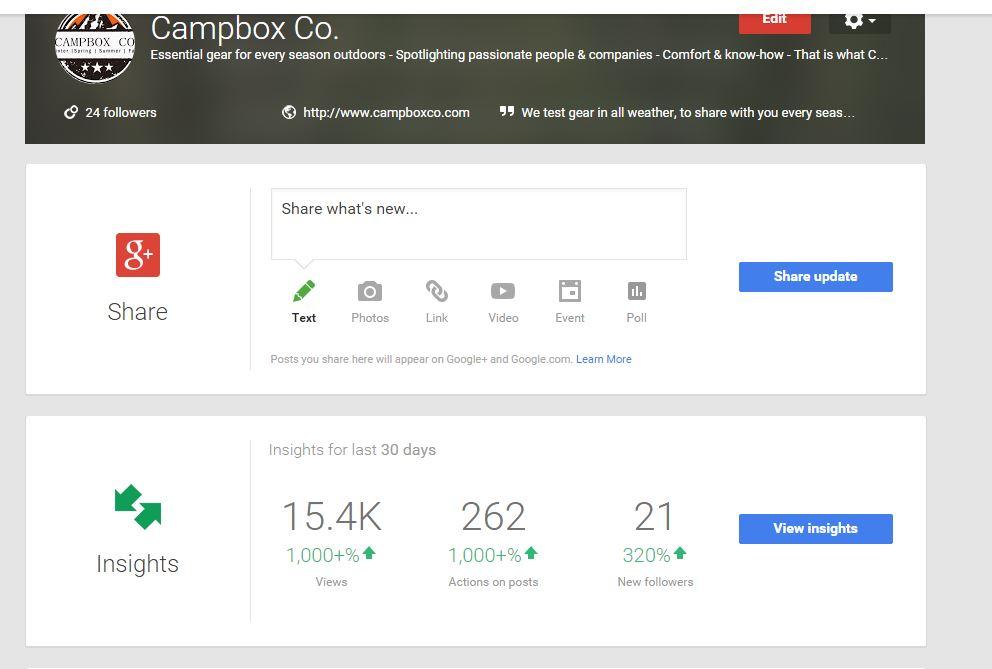 Google+ info Campboxco